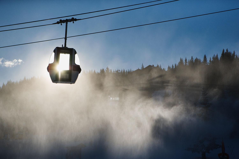 Empty Ski lifts
