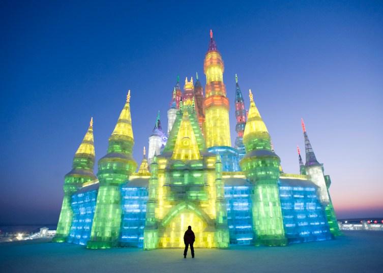 Illuminated Ice Castle