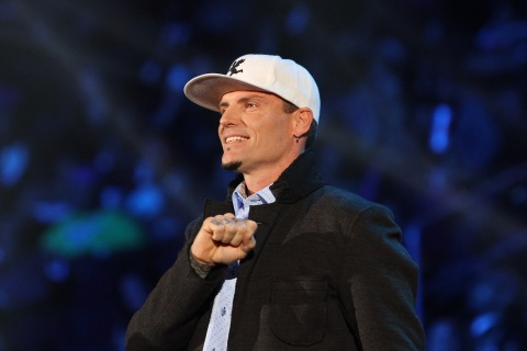 Vanilla Ice on stage at the Soul Train Awards 2013 at the Orleans Arena on November 8, 2013 in Las Vegas, Nevada.