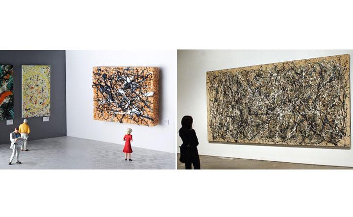 Edible Jackson Pollock painting; Original Jackson Pollock Painting.