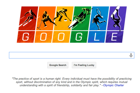 Sochi Russia Olympics Google Doodle