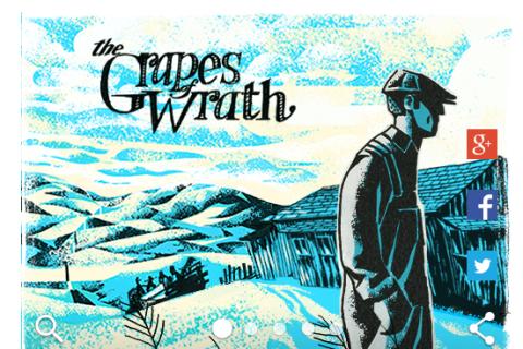 Google Doodle John Steinbeck Grapes of Wrath