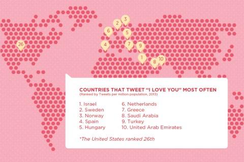 Twitter Valentines Locations